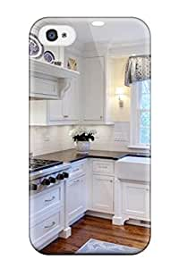 Tpu Case Cover Compatible For Iphone 4/4s/ Hot Case/ Skylight In A White Kitchen With Rustic Top Dining Table And Metal Chairs
