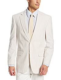 Palm Beach Men's Brock Tan-Seersucker Suit Seprate Jacket