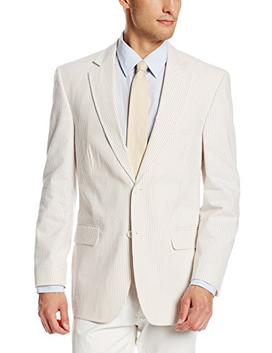 - Palm Beach Men's Brock Seersucker Suit Separate Jacket, Tan/White, 40 Regular