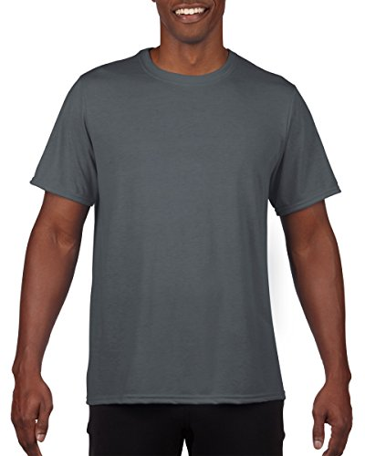 - Gildan Classic Fit Mens Large XL Adult Performance Short Sleeve T-Shirt Charcoal