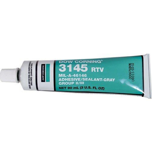 Dow Corning 3145 Gray Rtv Mil-A-46146 Adhesive Sealant, Gray, 3 Oz. Tube