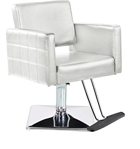 Eastmagic Brand New Barber Chair Styling Hair Beauty Salon Spa Equipment (White)