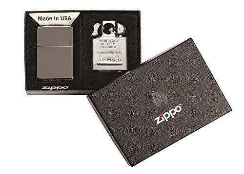 Zippo Black Ice Lighter & Pipe Insert