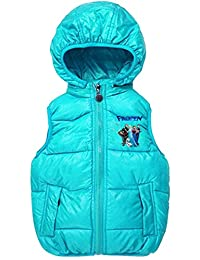 Janeyer Children Girls Kids Fall Winter Hooded Quilted Anoraks Outfit Vest