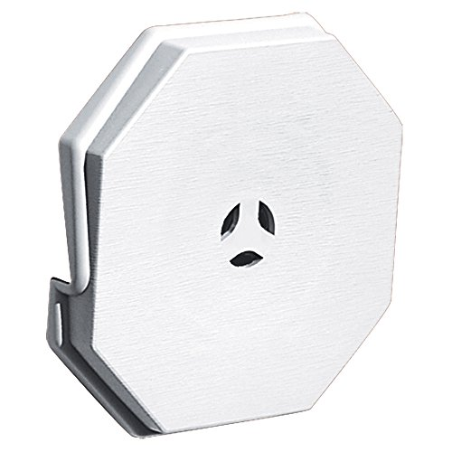 Builders Edge 130110006001 Octagon Mounting Block, W X 6-7/10 in H, White