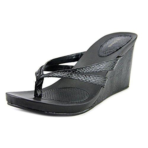 Style & Co. Womens Cassiee Split Toe Casual Platform Wedges Sandals Black Snake Size 8.0 US (Platform Sandal Style)