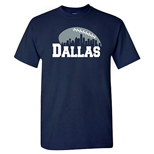 - Xtreme Apparrel Dallas Football Skyline Shirt (3XL) Navy