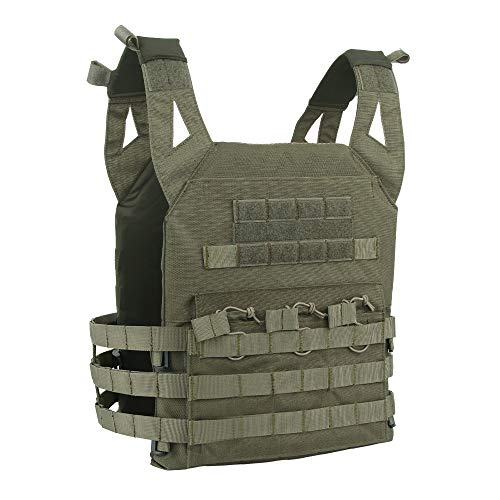 Elite Tactical Vest - EXCELLENT ELITE SPANKER Tactical Airsoft Outdoor Molle Breathable JPG Vest Game Protective Vest Modular Chest Set Vest for Fun(RGN)
