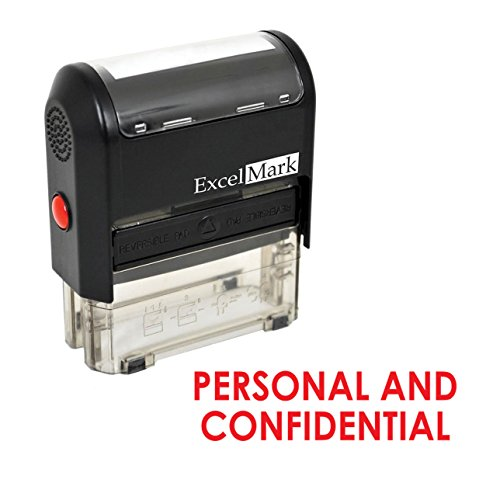 PERSONAL AND CONFIDENTIAL Self Inking Rubber Stamp - Red Ink (Personal Stamp)