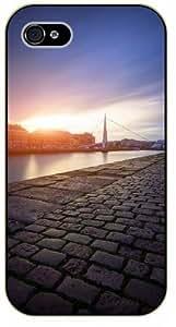 iPhone 6 Sidewalk sunset, bridge - black plastic case / Nature, Animals, Places Series