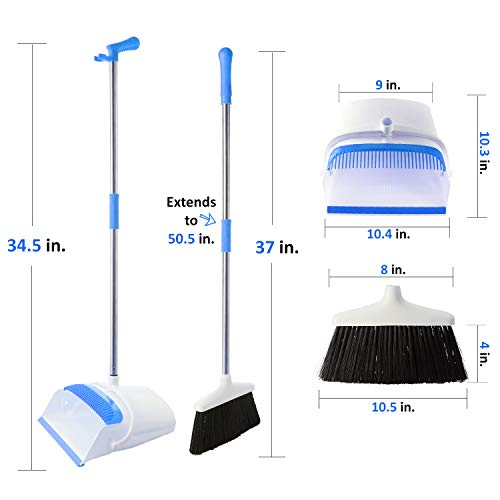 Broom And Dustpan Set - Strongest 30% Heavier Duty - Upright Standing Dust Pan With Extendable Broomstick For Easy Sweeping - Easy Assembly Great Use For Home, Office, Kitchen, Lobby Etc.- By Kray by kray (Image #3)