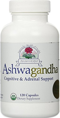 Ayush Herbs Ashwagandha Herbal Supplement, 120 Count
