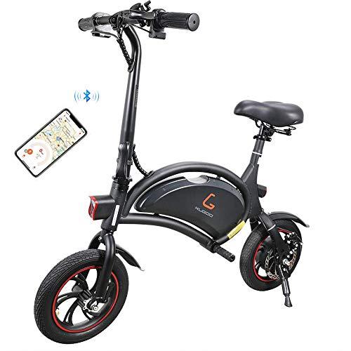 Kugoo B1 Bicicleta Eléctrica Plegable para Adultos E-Bike, Soporte de Control de App, Velocidad máxima 25 km/h Batería…