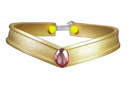Cosfun Sailor Queen Headwear/Tiara Accessories Gold PVC Props Cosplay (Chibi USA)