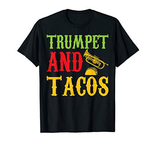 Trumpet And Tacos Pet Lovers Funny Tshirt