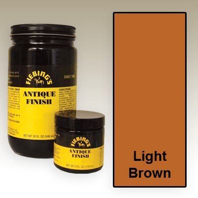 - Fiebing's Light Brown Antique Finish Paste 4oz