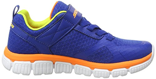 Skechers Jungen Flex 2.0-Swift Pulse Sneaker Mehrfarbig (Royal/orange)