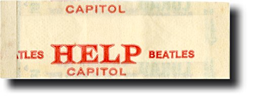 "The Beatles Memorabilia: ""HELP!"" Movie Rare Original & Authentic PROMOTIONAL ONLY Bandage / Curad Band-Aid, 1965 Song & Film Promo Vintage Merchandise – EXCELLENT Dual-Purpose ""Desktop Decorative Ornament/Paperweight"" GIFT item!"