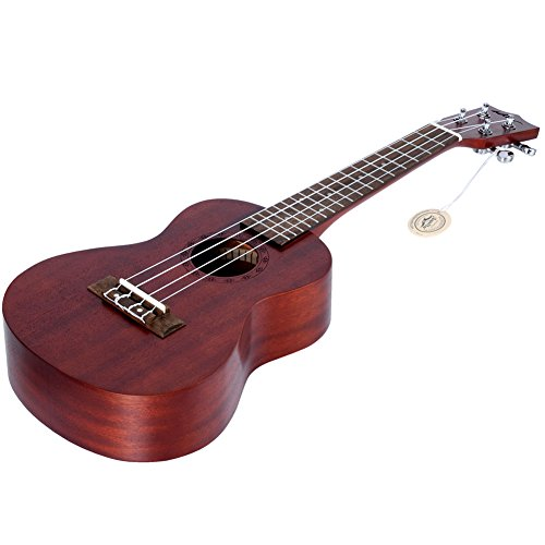 "ADM 23"" Deluxe Mahogany Concert Ukulele Kit with Bag, Strap, Tuner and Picks - Image 7"