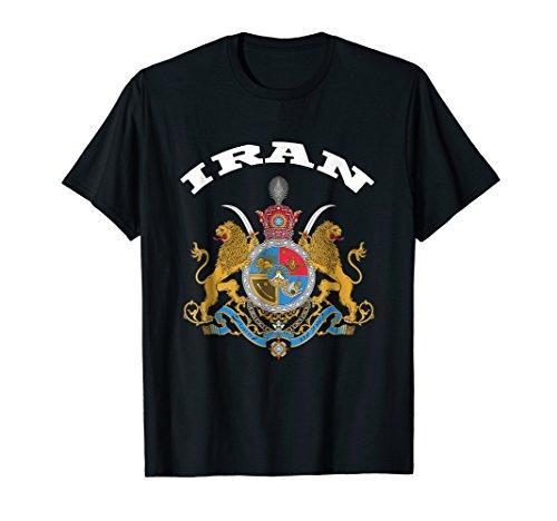 Iran T-shirt Coat of arms Tee Flag souvenir Iranian Persian