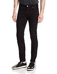 J.Lindeberg mens Damien Black Stretch Denim Jeans