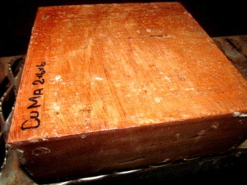 ONE Exotic Cuban Mahogany Bowl/Platter Blanks Lathe Lumber Wood 6 X 6 X 2""