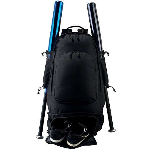 Augusta Sportswear EXPANDABLE BAT BACKPACK OS Black (Expandable Bat)