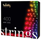 Twinkly Smart Decorations Custom LED String Lights - App Controlled Light Strings with 400 Multicolor RGB LED Lights - IoT Ready Customizable Lighting - Create or Download Light Displays