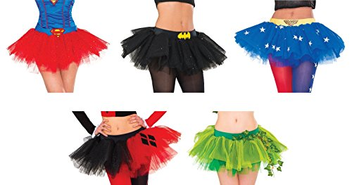 Adult DC Comics Super Hero Villain Tutu Skirts - 5 Styles