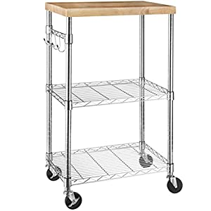 Microwave Shelf / Cart with Storage and Wheels