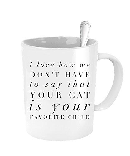 Cat Mug - Favorite Child Mug - Inexpensive Mothers Day - Definition Pit Boss