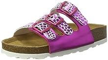 Lico Bioline Trendy, Zapatillas de Estar por casa para Niñas, Rosa (Pink/Weiss Pink/Weiss), 28 EU