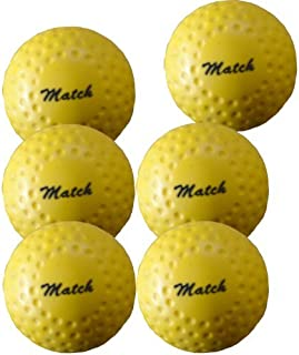 Grays Match Dimple Hockey Ball - Box of 6 - Yellow by Grays