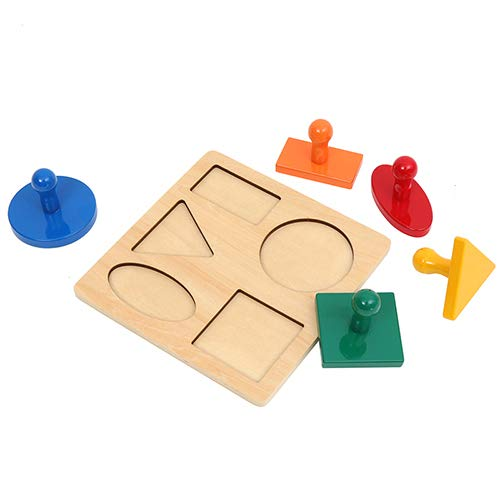 Geometric Puzzle LEADER JOY Montessori Materials Insets Single Shape Puzzles Toddler