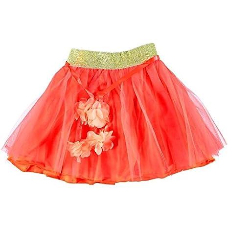 Falda de la Nina negra plana y acampanada rollo de tul rosa Talla ...