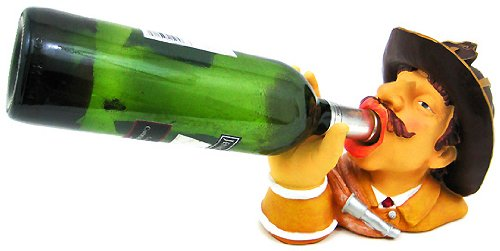 Amazon.com: Firefighter Wine Bottle Holder Kitchen Decor Fireman: Home U0026  Kitchen
