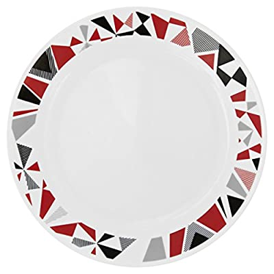 Corelle Livingware 16-Piece Dinnerware Set, Mosaic Red, Service for 4