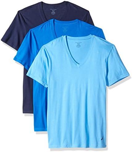 Nautica Mens White //Black Crew Neck Stretch Tees 3-pack T Shirts Variety