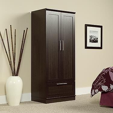 Bedroom Oak Armoire (Sauder HomePlus Wardrobe, Dakota Oak)