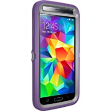 Otterbox [Defender Series] Samsung Galaxy S5 Case - Retail Packaging Protective Case for Galaxy S5  - (Gunmetal Grey Plastic/Opal Purple Slip )