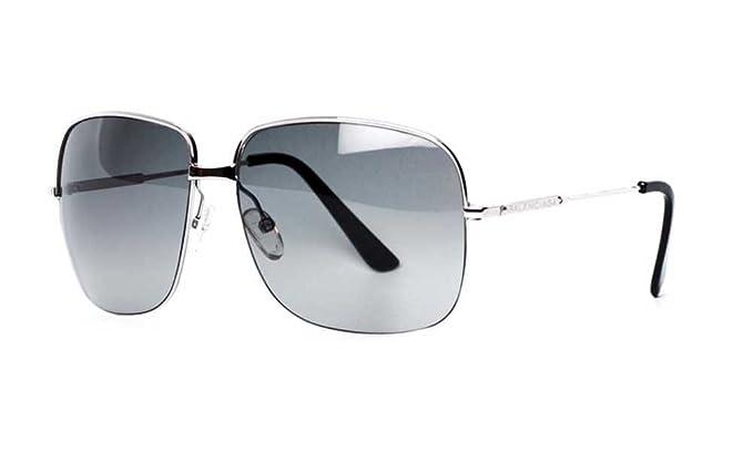 Amazon.com: Balenciaga mujer 0038 marco de plata/lentes gris ...