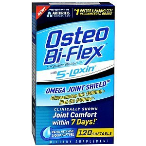 Osteo Bi-Flex Omega Joint Shield with 5-Loxin Rapid Release Liquid Softgel 120 Each