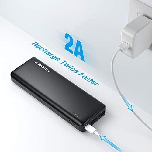 Aibocn 20000mAh Power Bank, Perfect Hand Feeling Portable Charger, High Capacity Compact External Battery Pack Fast Charging for iPhone, iPad, Samsung Galaxy, Android Phone, Tablet and More