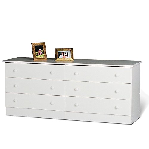 Prepac White 6-Drawer Dresser