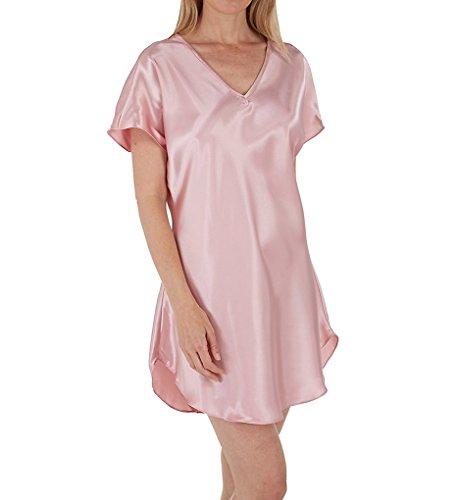 Amanda Rich Bias Cut Satin T-Shirt Gown (412-40) L/Dusty Rose