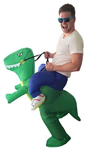 [Halloween Inflatable Dinosaur Adult Fancy Dress Costume] (Mr Green Halloween Costume)