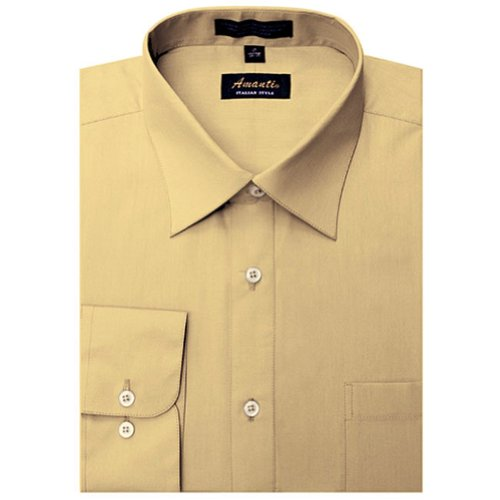 Amanti Mustard Colored Men's Dress Shirt Classic Long Sleeve 15.5-32/33