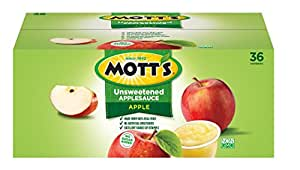 Mott's Organic Unsweetened Apple Sauce, 3.9 Ounce, 36 Count