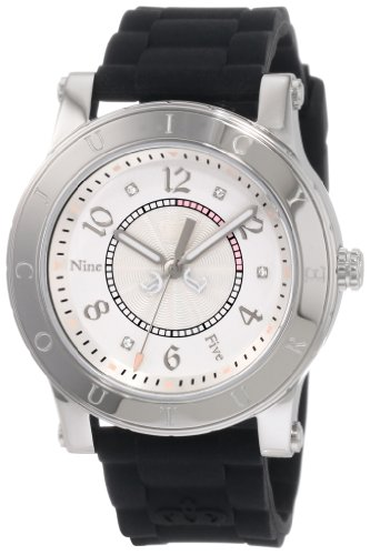 Juicy Couture Women's Black Silicone Strap Watch - 9