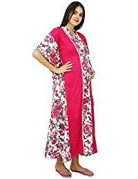 Bimba Nursing Mothers Caftan Cotton Floral Print Maxi Gown, Baby Shower Gift